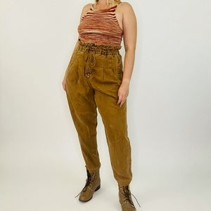 Free People Margate Pleated High Waist Trousers